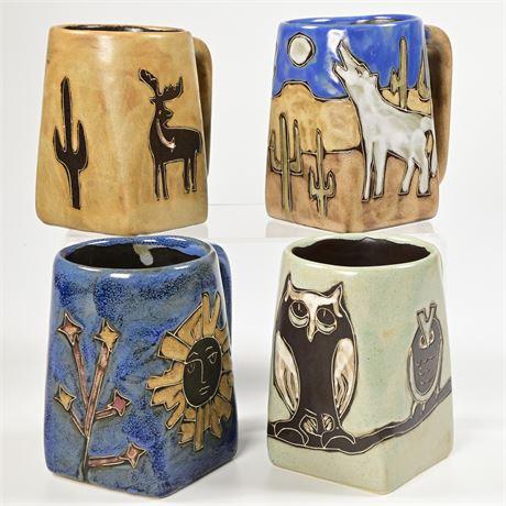 "Set of 4 Handmade ""Mara"" Ceramic Mugs"