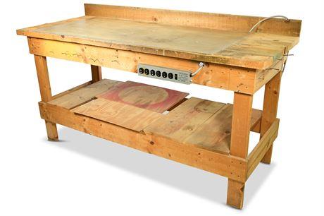 Heavy Duty Homemade Workbench