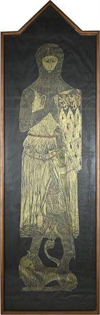 Medieval Brass Knight Rubbing