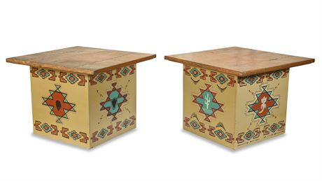 Custom Copper Clad Side Tables