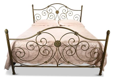 Ornate Iron Bed: King Size