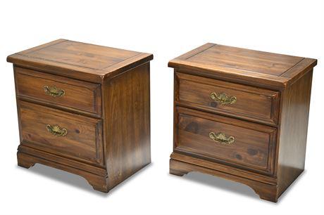 Vintage Pine Nightstands