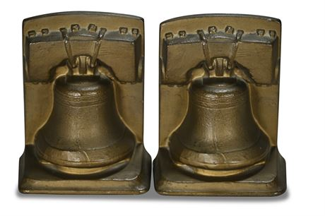 Cast Paster Liberty Bell Bookends