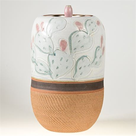 Artisan Crafted Prickly Pear Urn
