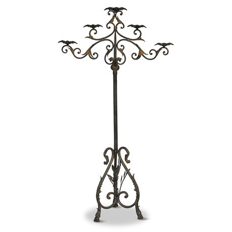 Gilded Floor Standing Candelabra