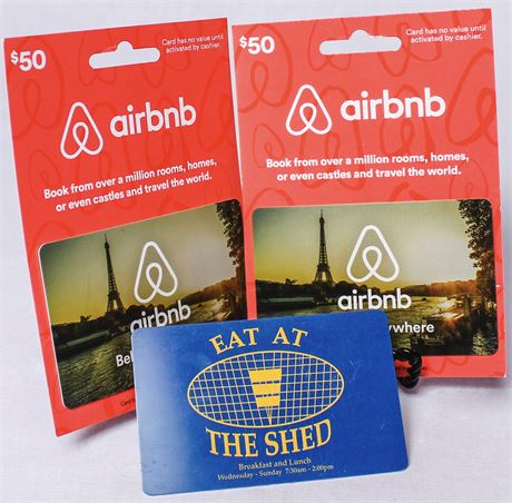 AirBnB Gift Cards & The Shed Gift Card