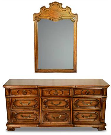 Thomasville Dresser with Mirror, Stroupe Series