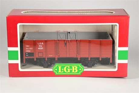 LGB - Lehmann #4021 High Side Green Gondola