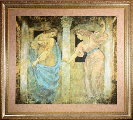 Annunciation IV Framed Print After Richard Franklin