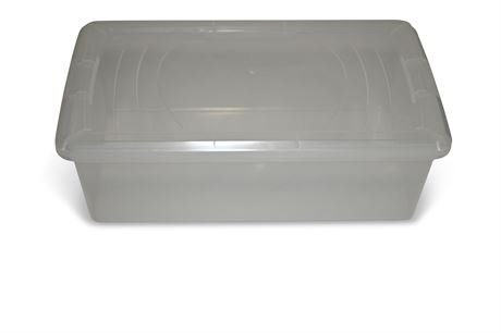 (12) Clear Storage Containers with Lids