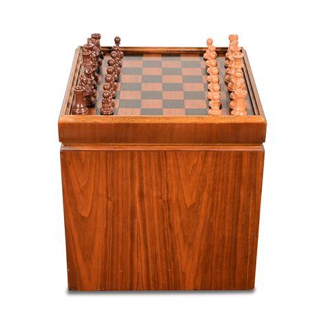 Mid-Century LANE Chess Board Ottoman