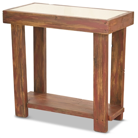 Rustic Shadow Box Accent Table