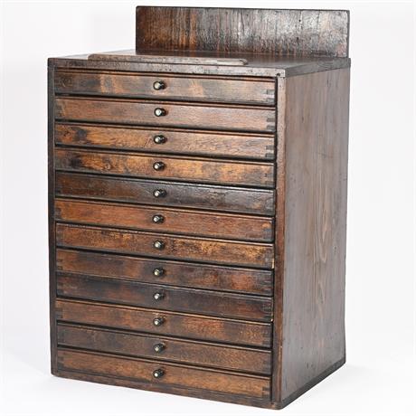 Antique Printmakers Cabinet