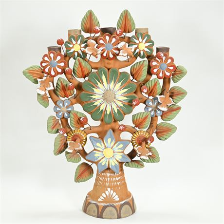 Terracotta Tree of Life Candelabra