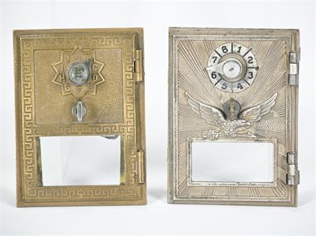 Pair Vintage PO Box Doors