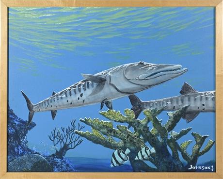 Robert Johnson Barracuda Painting