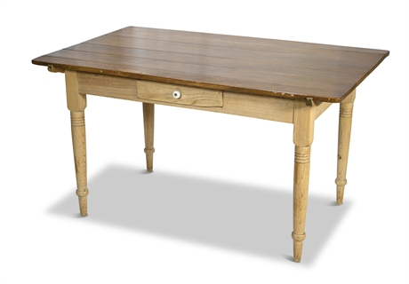 Antique Pine Rustic Dining Table