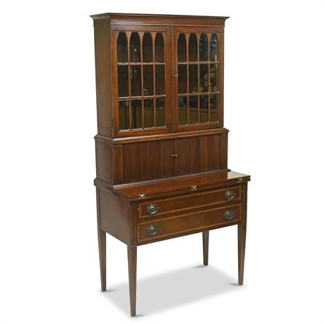 1920's Mahogany Tambour Secretary Desk