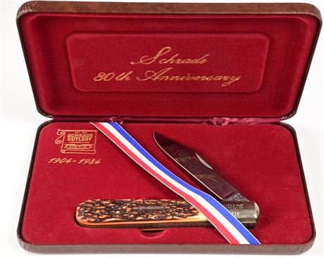 NOS Schrade 80th Anniversary Commemorative Knife Limited Edition 1904-1984