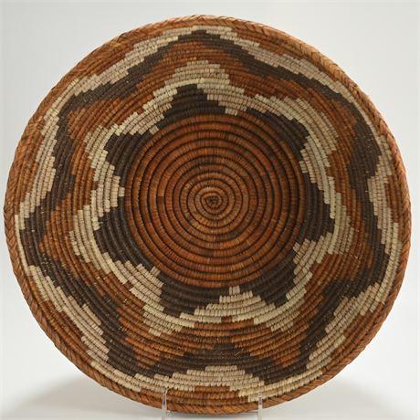 Large Coiled Basket Bowl