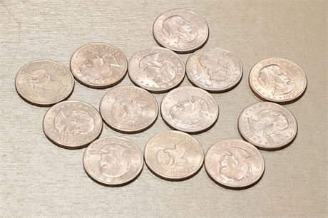 (13) Susan B. Anthony Dollars