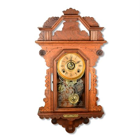 Antique Russell & Sows Kitchen Clock