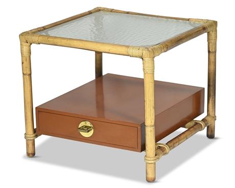 Hollywood Regency Ficks Reed Side Table