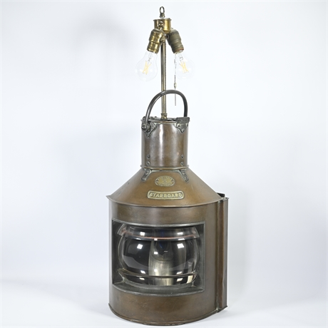 WM Harvie and Amp Co, LTD Copper/Brass Starboard Ships Lantern