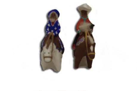 Clay Horses and Riders