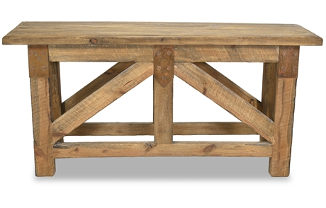 Reclaimed Pine Truss Console