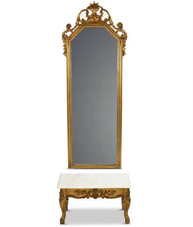 Neoclassical Rococo Pier Mirror