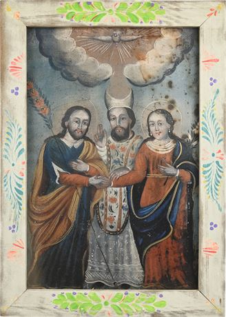 Religious Print on Board