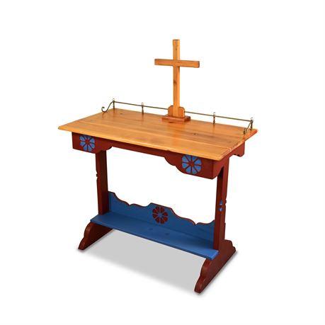 Rustic Carved Altar