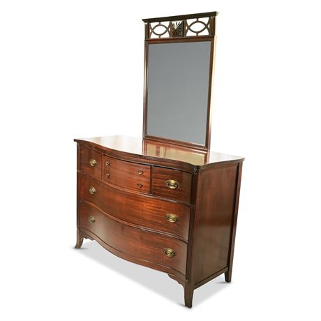 Antique Mahogany Dresser with Mirror