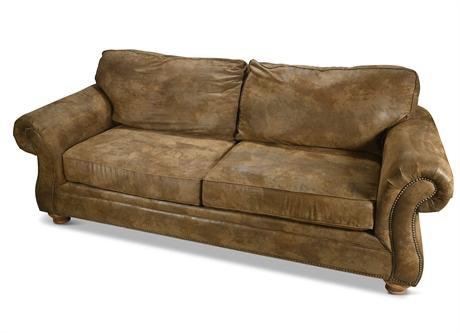 Broyhill Microsuede Nailhead Sofa