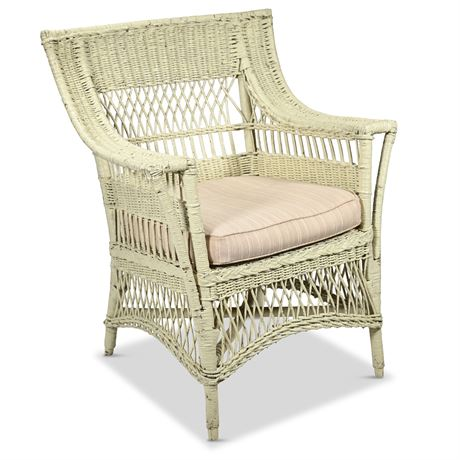 Antique Wicker Armchair