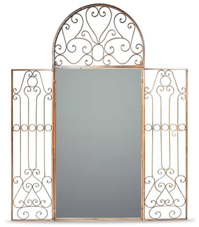 Elegant Wrought Iron Mirror