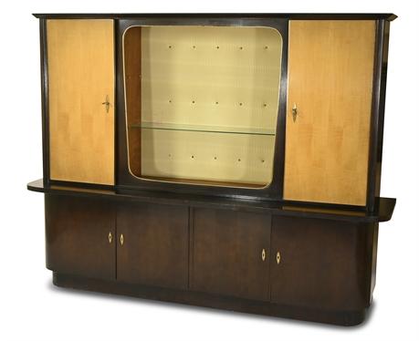 German Mid-Century Modern Atomic Shrunk Cabinet