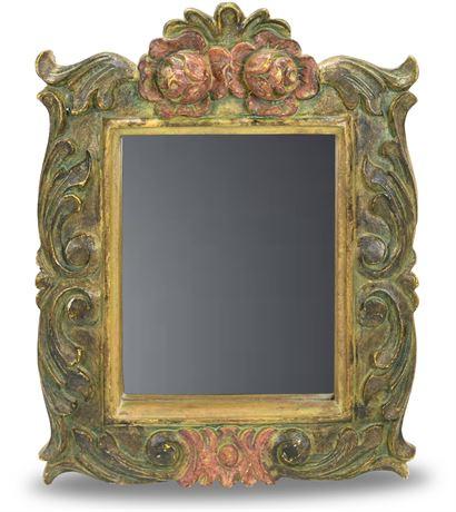 Plaster Rose Mirror