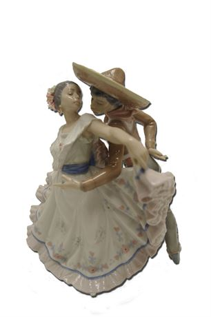 FINE PORCELAIN LLADRO FIGURINE #5415 SPANISH FLAMENCO DANCERS