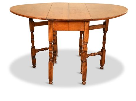 Antique Whitney Double Drop Leaf Table