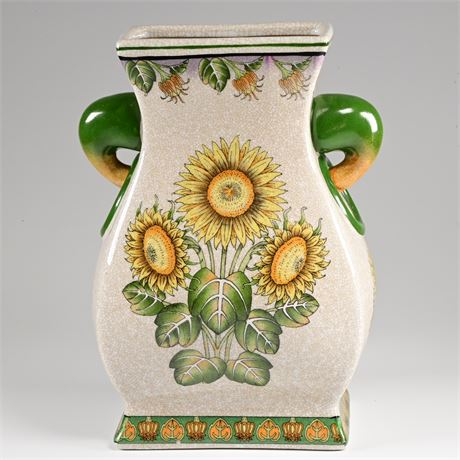 Ceramic Sunflower Vase