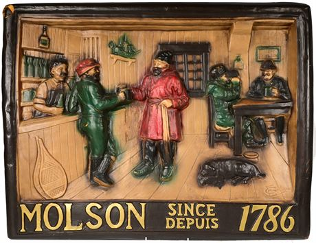Vintage Molson Brewery Plaque