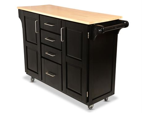 Black Kitchen Island Cart