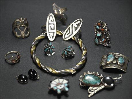 Sterling and Turquoise Parts or Repair