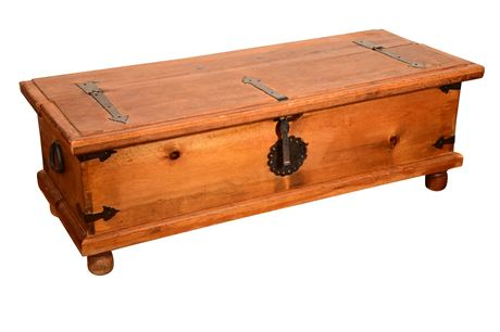 Rustic Chest with Hand Forged Hardware