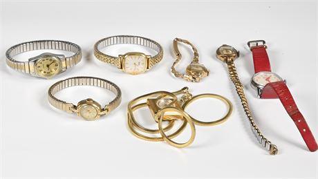 Parts or Repair; Vintage Ladies Watches