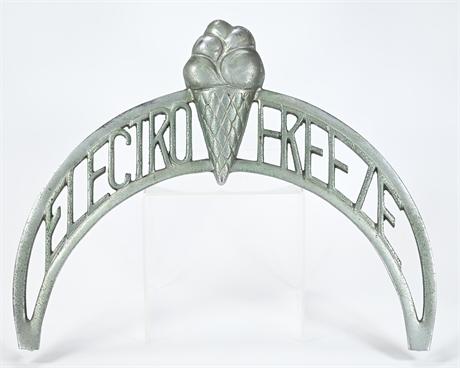 VIntage 1950's  Electro Freeze Ice Cream Machine Emblem