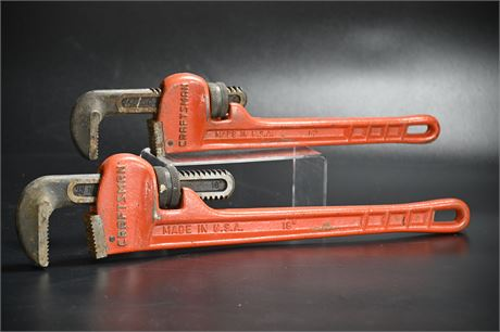 """Vintage Craftsman 16"""" and 18"""" Pipe Wrenches"""