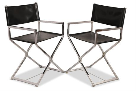 Mid-Century Virtue Brothers Style Directors Chairs